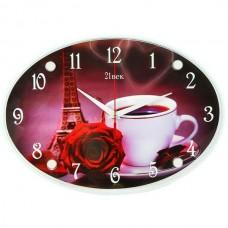 """Часы 21 век """"Чашка с розой"""""""