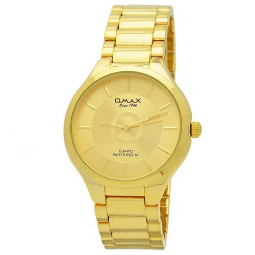 Часы женские кварцевые Omax HBJ859. . Металлический браслет, корпус и циферблат жёлтого цвета. в закладки